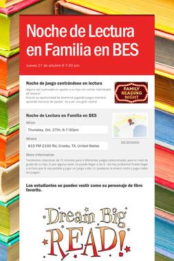 Noche de Lectura en Familia en BES