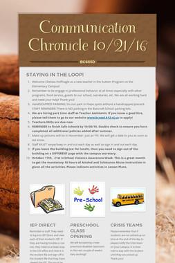 Communication Chronicle 10/21/16