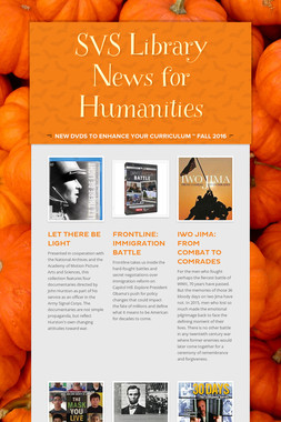 SVS Library News for Humanities