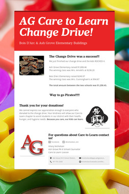 AG Care to Learn Change Drive!