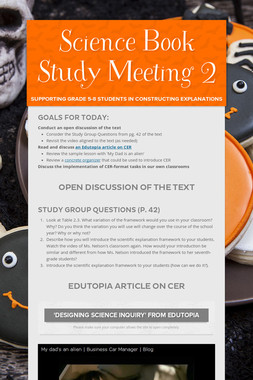 Science Book Study Meeting 2
