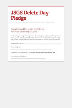 JSGS Delete Day Pledge
