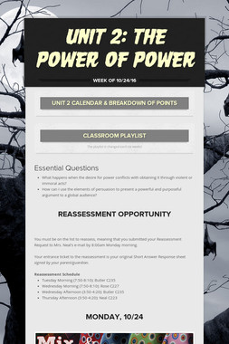 Unit 2: The Power of Power