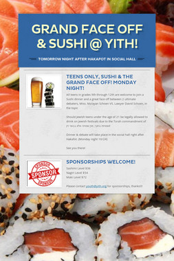 Grand Face Off & Sushi @ YITH!