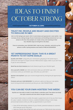 IDEAS TO FINISH OCTOBER STRONG