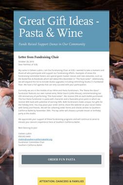 Great Gift Ideas - Pasta & Wine