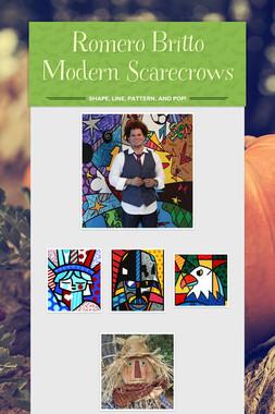 Romero Britto Modern Scarecrows