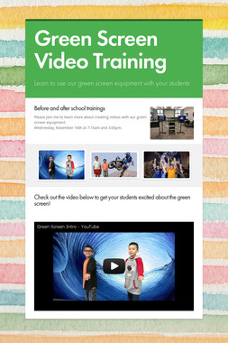 Green Screen Video Training