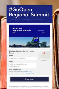 #GoOpen Regional Summit