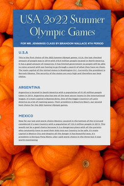 USA 2022 Summer Olympic Games