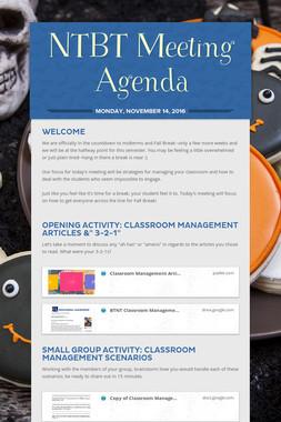 NTBT Meeting Agenda