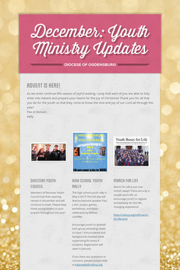 December: Youth Ministry Updates