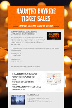 Haunted Hayride Ticket Sales