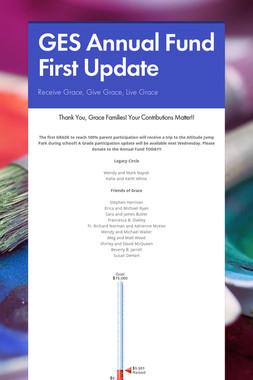 GES Annual Fund First Update