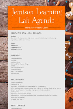 Jemison Learning Lab Agenda
