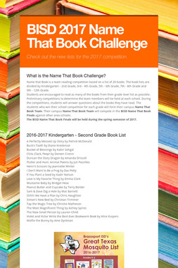 BISD 2017 Name That Book Challenge