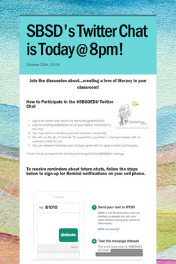 SBSD's Twitter Chat is Today @ 8pm!