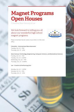 Magnet Programs Open Houses
