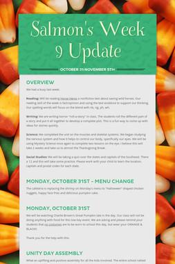 Salmon's Week 9 Update