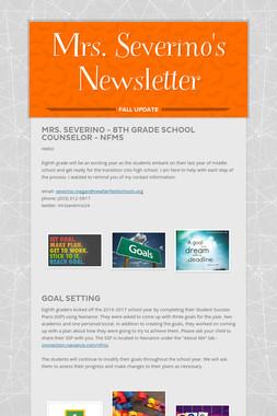 Mrs. Severino's Newsletter