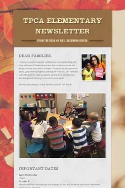 TPCA Elementary Newsletter