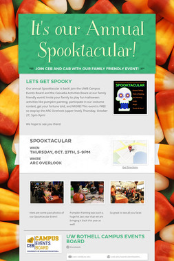 It's our Annual Spooktacular!