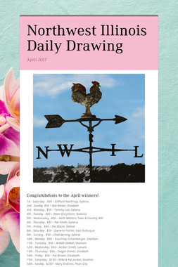 Northwest Illinois Daily Drawing