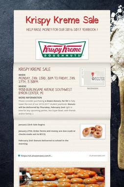 Krispy Kreme Sale