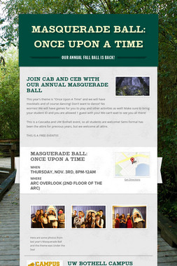 Masquerade Ball: Once Upon a Time