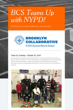 BCS Teams Up with NYPD!