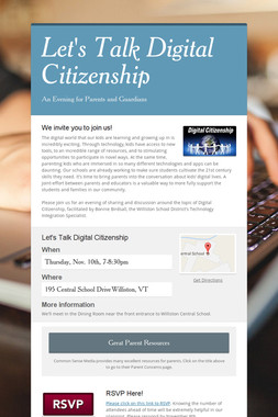 Let's Talk Digital Citizenship