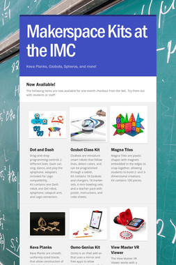 Makerspace Kits at the IMC