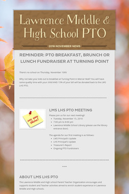 Lawrence Middle & High School PTO