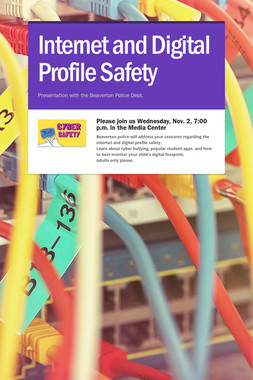 Internet and Digital Profile Safety
