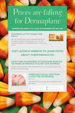 Prices are falling for Dermaplane