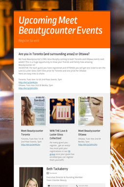 Upcoming Meet Beautycounter Events