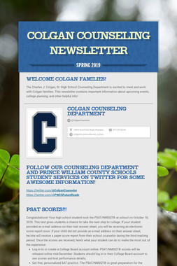 Colgan Counseling Newsletter
