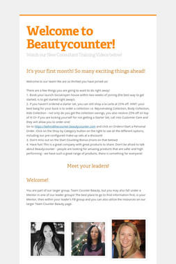 Welcome to Beautycounter!