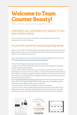 Welcome to Team Counter Beauty!