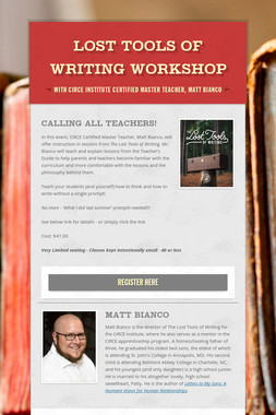Lost Tools of Writing Workshop