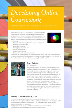 Developing Online Coursework