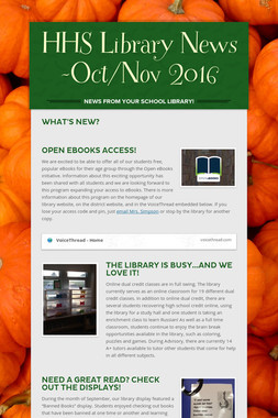 HHS Library News -Oct/Nov 2016