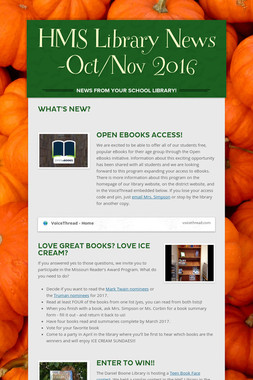 HMS Library News -Oct/Nov 2016
