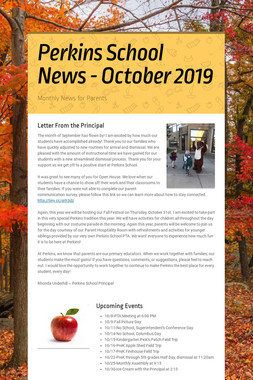 Perkins School News - October 2019
