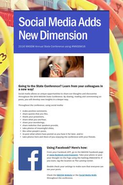 Social Media Adds New Dimension