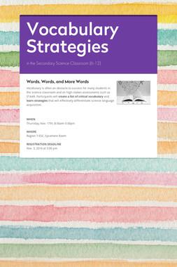 Vocabulary Strategies