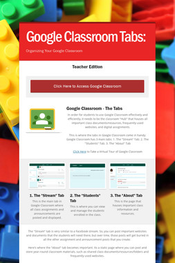 Google Classroom Tabs: