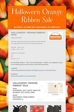 Halloween Orange Ribbon Sale