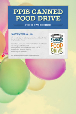 PPIS Canned Food Drive