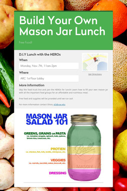 Build Your Own Mason Jar Lunch
